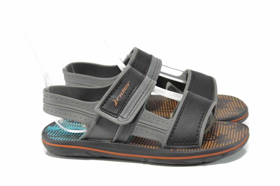 Детски сандали - висококачествен pvc материал - черни - EO-12632