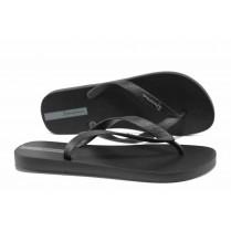 Мъжки чехли - висококачествен pvc материал - черни - EO-12633