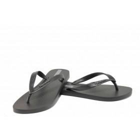 Дамски чехли - висококачествен pvc материал - черни - EO-12631