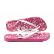 Дамски чехли - висококачествен pvc материал - розови - EO-12630