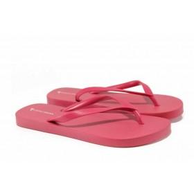 Дамски чехли - висококачествен pvc материал - розови - EO-12627