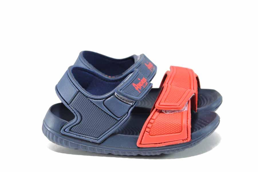 Детски сандали - висококачествен pvc материал - сини - EO-12713