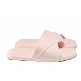 Дамски чехли - висококачествен pvc материал - розови - EO-12706