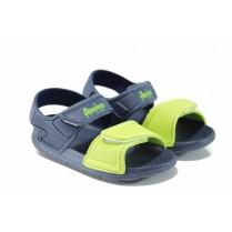 Детски сандали - висококачествен pvc материал - сини - EO-12718