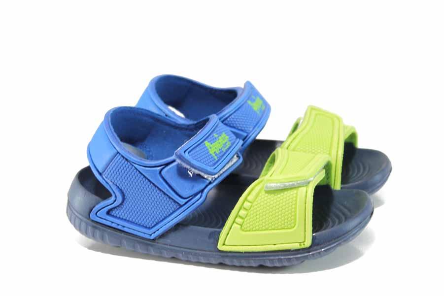 Детски сандали - висококачествен pvc материал - сини - EO-12714