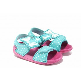 Детски сандали - висококачествен pvc материал - зелени - EO-12715