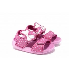 Детски сандали - висококачествен pvc материал - розови - EO-12716