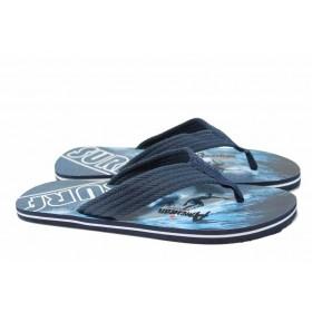 Мъжки чехли - висококачествен pvc материал - сини - EO-12726