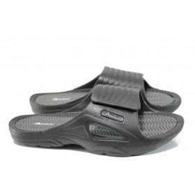 Мъжки чехли - висококачествен pvc материал - черни - EO-12724