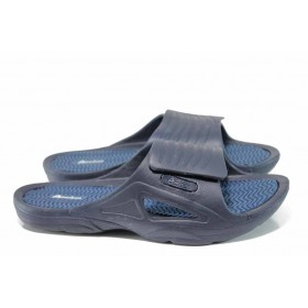Мъжки чехли - висококачествен pvc материал - сини - EO-12723