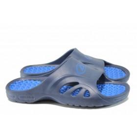 Мъжки чехли - висококачествен pvc материал - сини - EO-12722