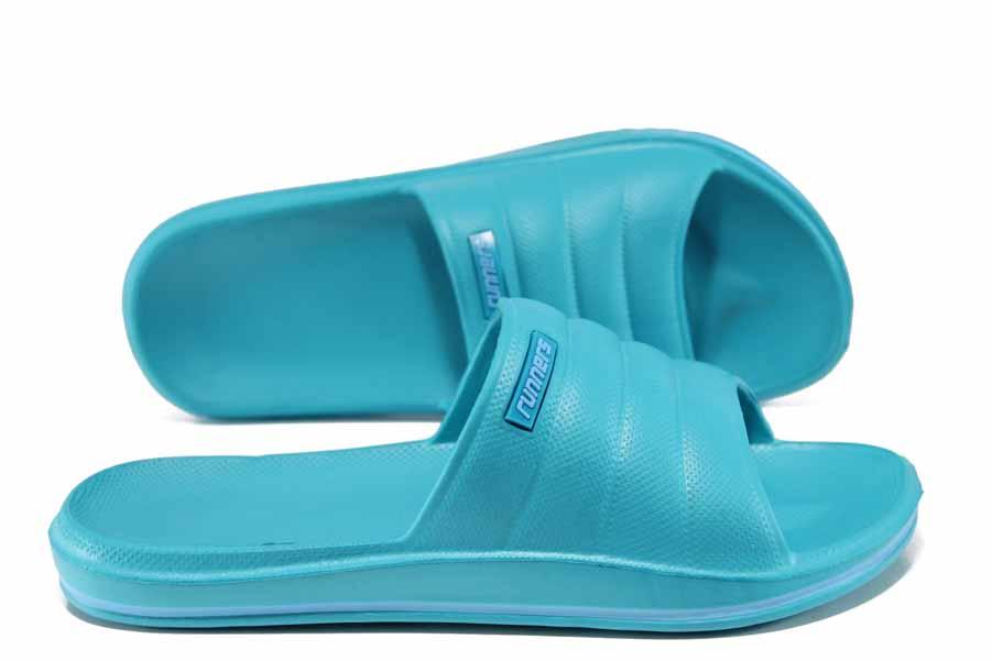 Джапанки - висококачествен pvc материал - сини - EO-12863