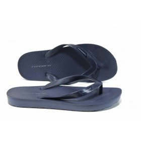 Джапанки - висококачествен pvc материал - сини - EO-12876