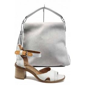 Дамска чанта и обувки в комплект -  - сиви - EO-12890