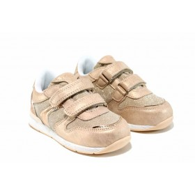 Детски маратонки - висококачествена еко-кожа - розови - EO-12542