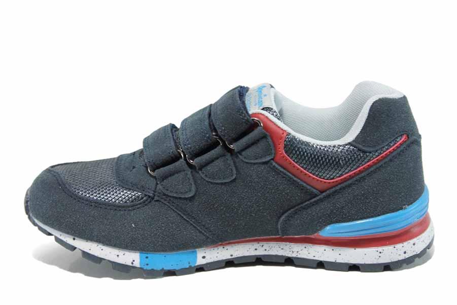 3dea4177dc9 Детски маратонки - висококачествен текстилен материал - сини - EO-12182