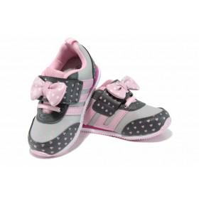 Детски маратонки - висококачествена еко-кожа - розови - EO-12267