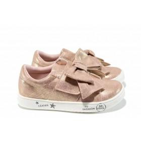 Детски обувки - висококачествена еко-кожа - розови - EO-12266