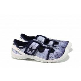 Детски обувки - висококачествен текстилен материал - сини - EO-12322