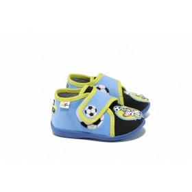 Детски обувки - висококачествен текстилен материал - сини - EO-12316