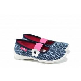 Детски обувки - висококачествен текстилен материал - сини - EO-12383