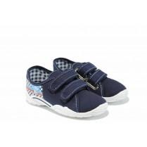 Детски обувки - висококачествен текстилен материал - сини - EO-12381