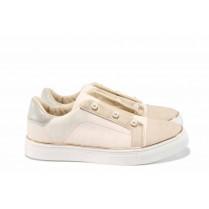 Равни дамски обувки - висококачествена еко-кожа - розови - EO-12551