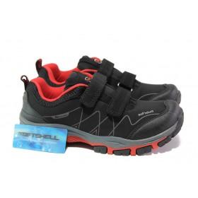 Детски маратонки - висококачествен текстилен материал - черни - EO-12902