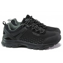 Мъжки маратонки - висококачествен текстилен материал - черни - EO-13134