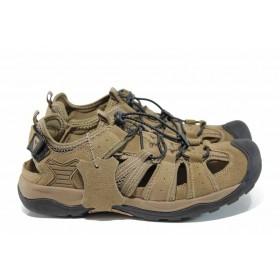 Мъжки обувки - естествена кожа - бежови - EO-12778