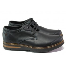 Мъжки обувки - естествена кожа - черни - EO-13008