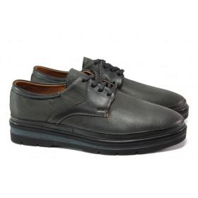 Мъжки обувки - естествена кожа - черни - EO-13031