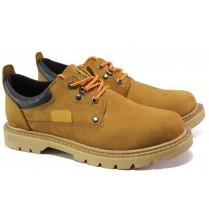 Мъжки обувки - естествен набук - жълти - EO-13194