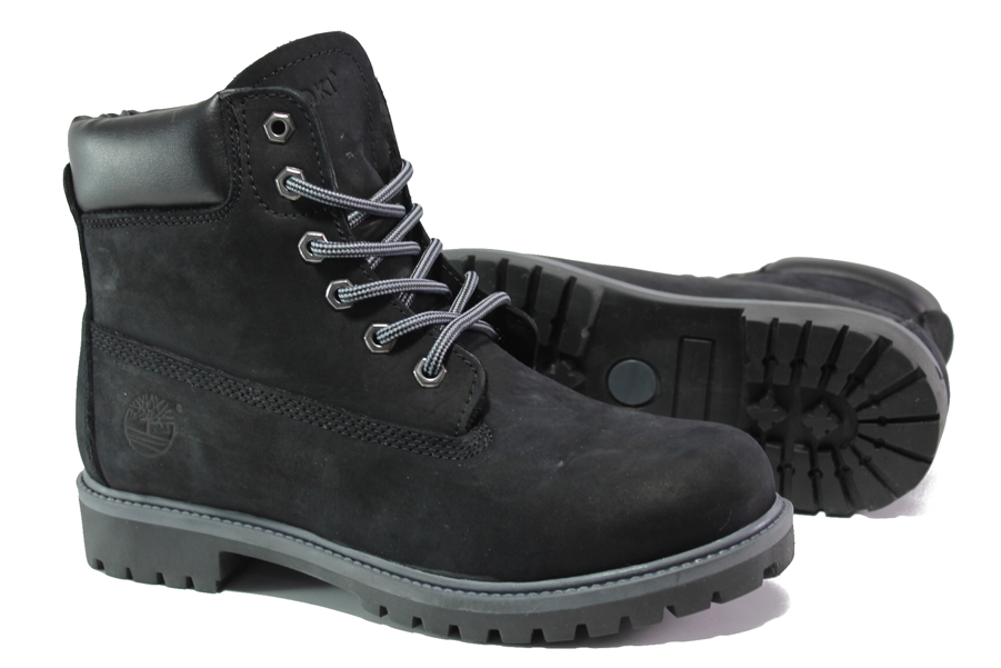 Мъжки боти - естествен набук - черни - EO-13309