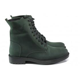 Мъжки боти - естествена кожа - зелени - EO-13456