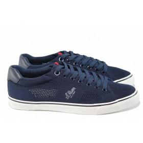 Мъжки обувки - висококачествен текстилен материал - сини - EO-12034