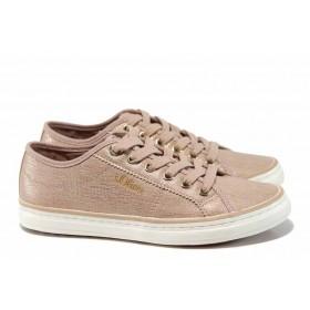 Равни дамски обувки - висококачествена еко-кожа - розови - EO-12251