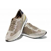 Равни дамски обувки - висококачествена еко-кожа - бежови - EO-12230