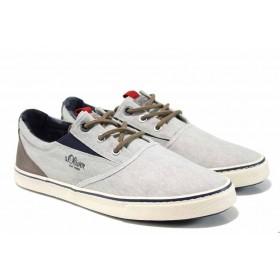 Спортни мъжки обувки - висококачествен текстилен материал - сиви - EO-12240