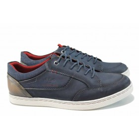 Мъжки обувки - естествена кожа - сини - EO-12338