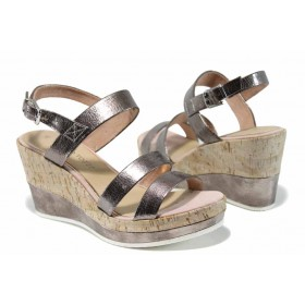 Дамски сандали - висококачествена еко-кожа - розови - EO-12392