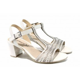 Дамски сандали - естествена кожа - черни - EO-12404