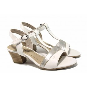 Дамски сандали - висококачествена еко-кожа - бели - EO-12410