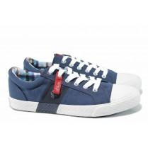 Мъжки обувки - висококачествен текстилен материал - сини - EO-12429