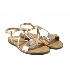 Дамски сандали - естествена кожа - розови - EO-12569