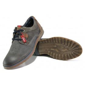 Мъжки обувки - естествен набук - сиви - EO-12984