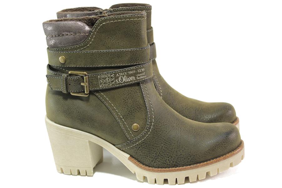 Дамски боти - висококачествена еко-кожа - зелени - EO-13019