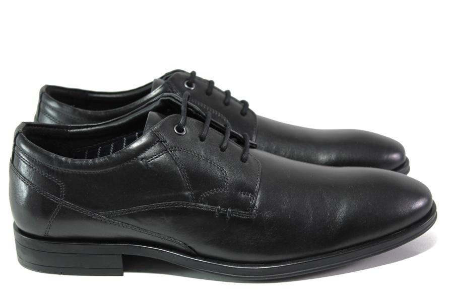 Мъжки обувки - естествена кожа - черни - EO-13064