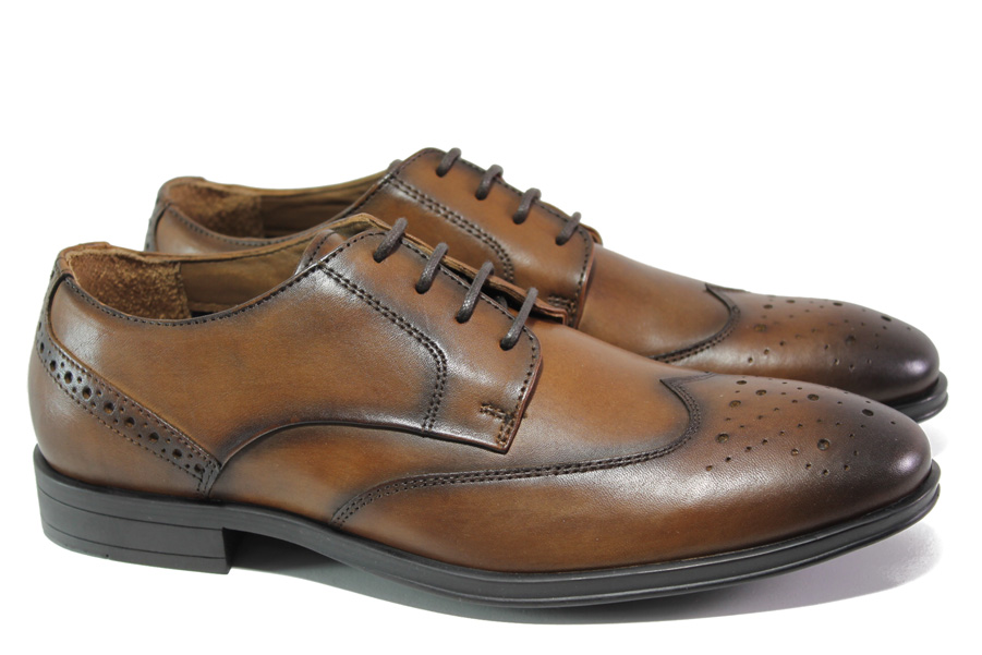Мъжки обувки - естествена кожа - кафяви - EO-13062