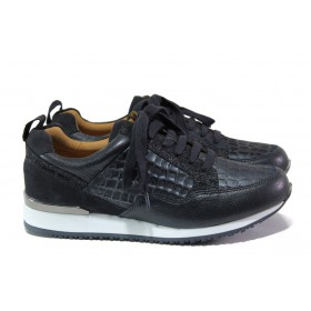 Дамски спортни обувки - естествена кожа - сини - EO-13144